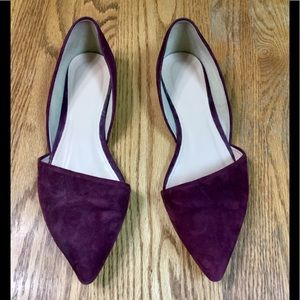 J. Crew Sloan Suede D'Orsay Flat (Size 9)